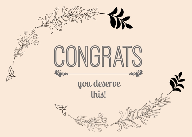 Congrats Greeting Card Template