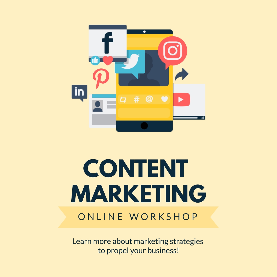 Content Marketing Workshop Square Template