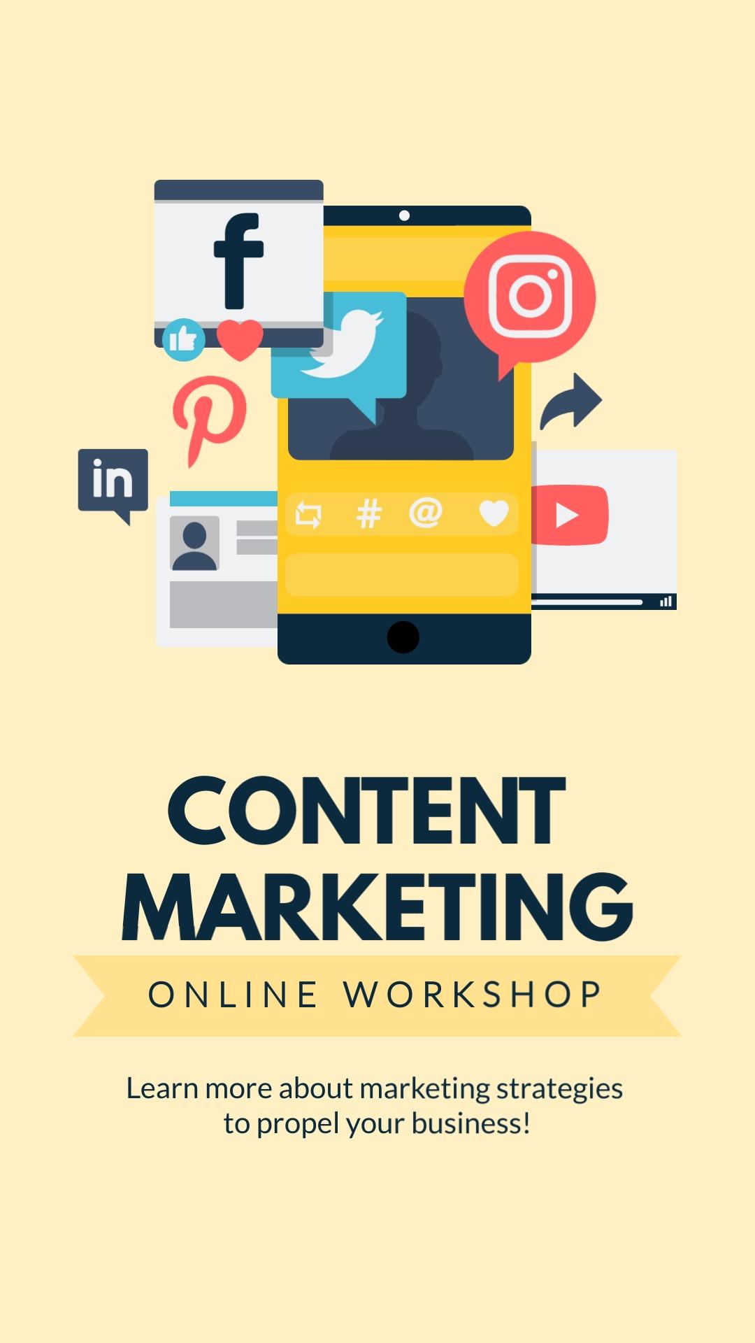 Content Marketing Workshop Vertical Template