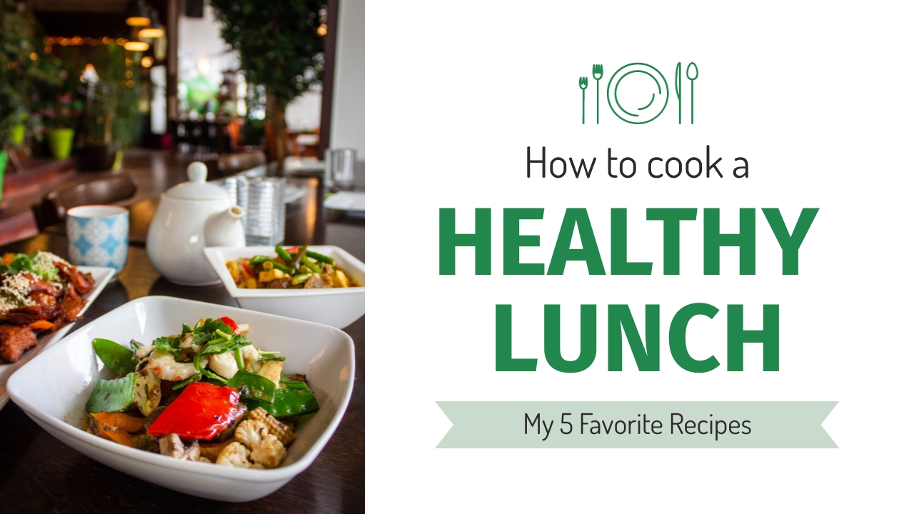 Cook Healthy Lunch Youtube Thumbnail Template