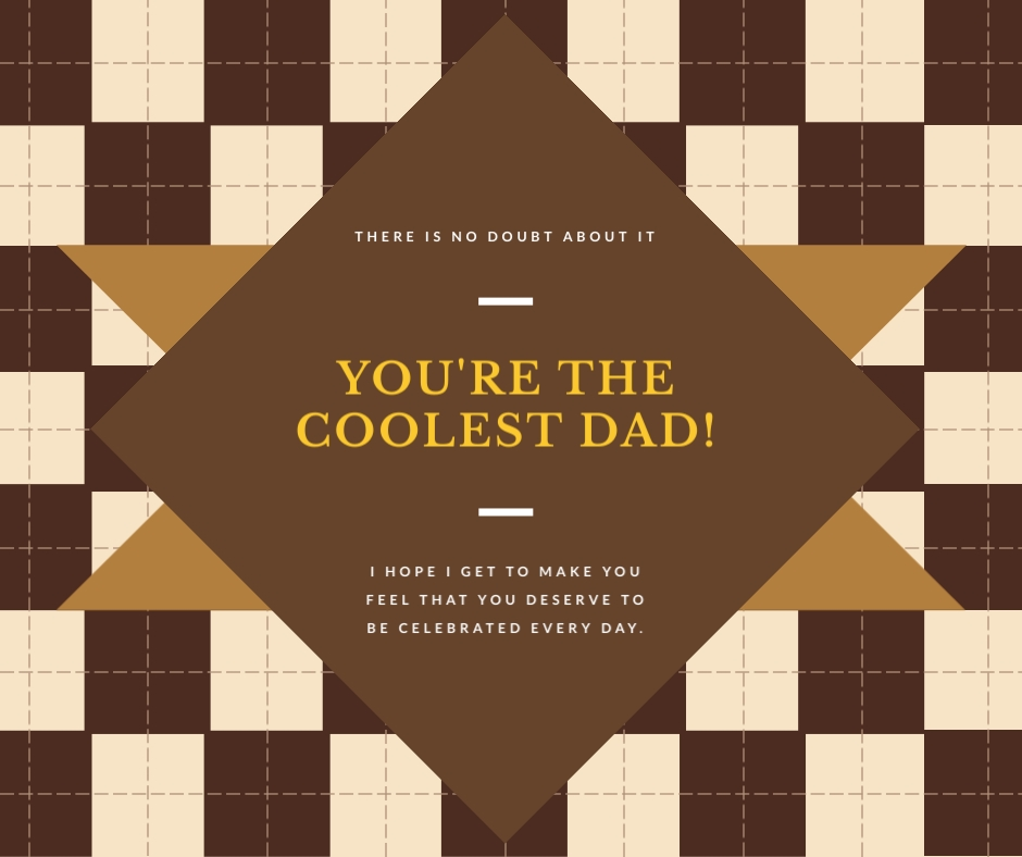 Coolest Dad Fathers Day Facebook Post Template