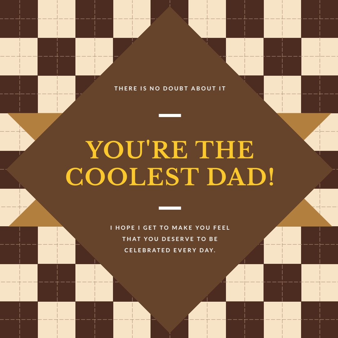 Coolest Dad Fathers Day Instagram Post Template