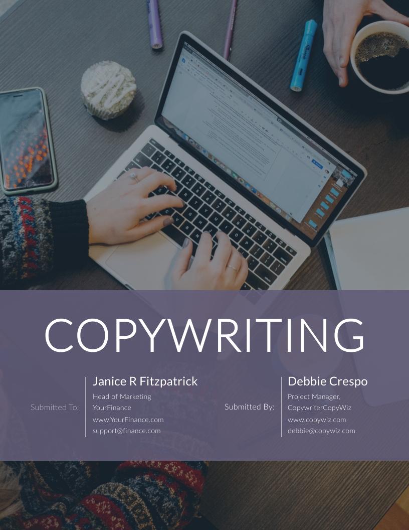 Copywriting Business - Proposal Template