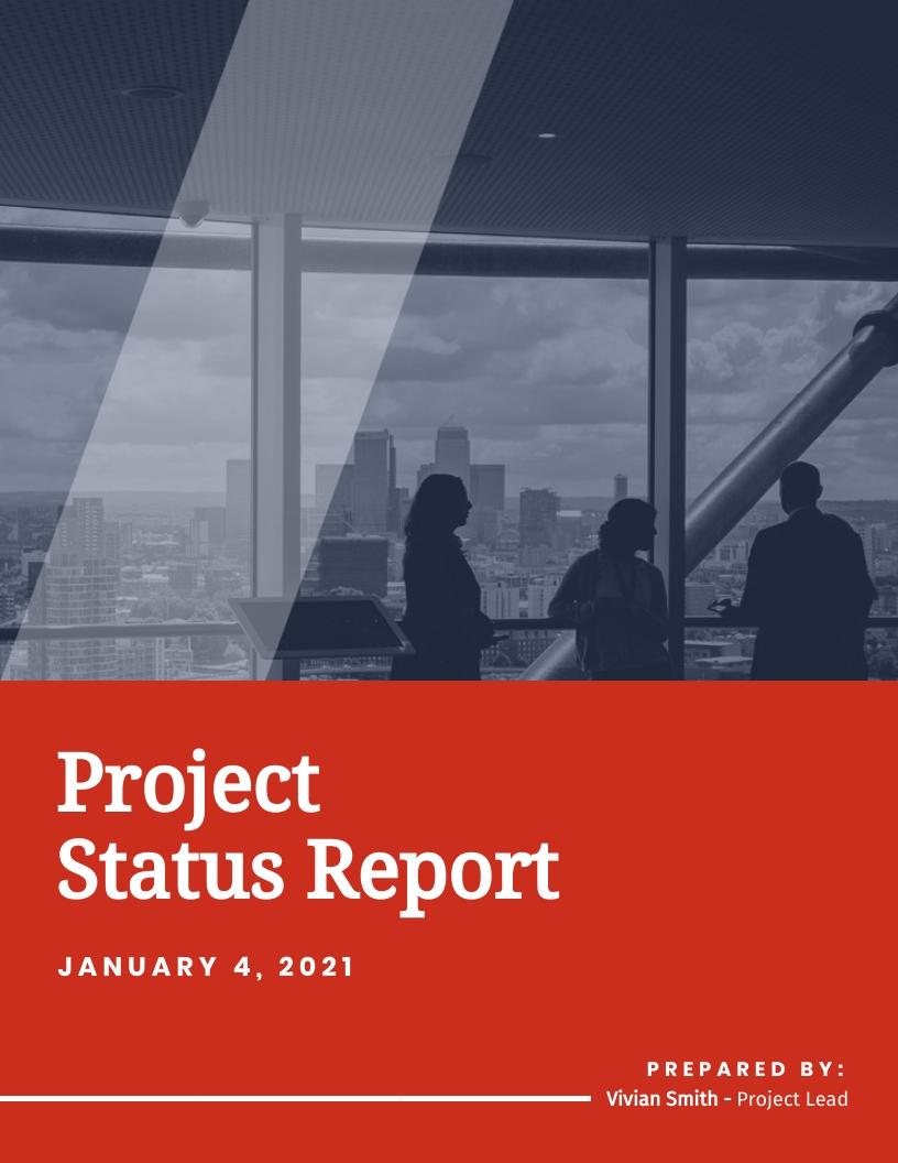 Corporate Project Status Report Template
