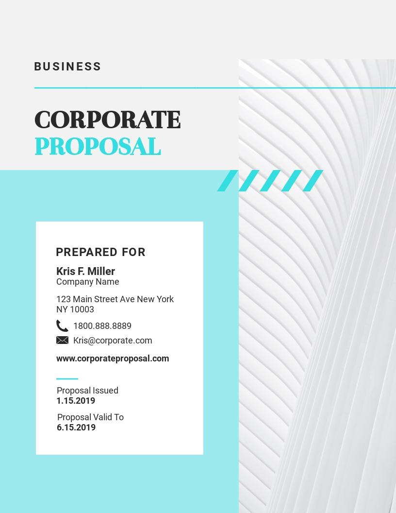 Corporate - Proposal Template