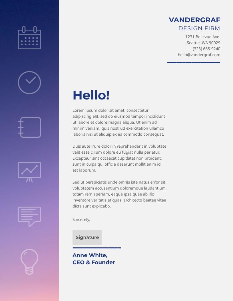 Creative Firm - Letterhead Template