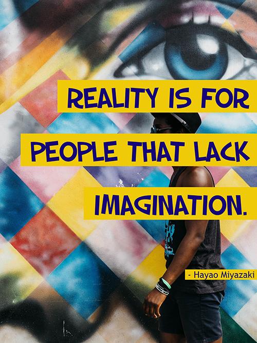 Creative Hayao Miyazaki Quote Poster  Template