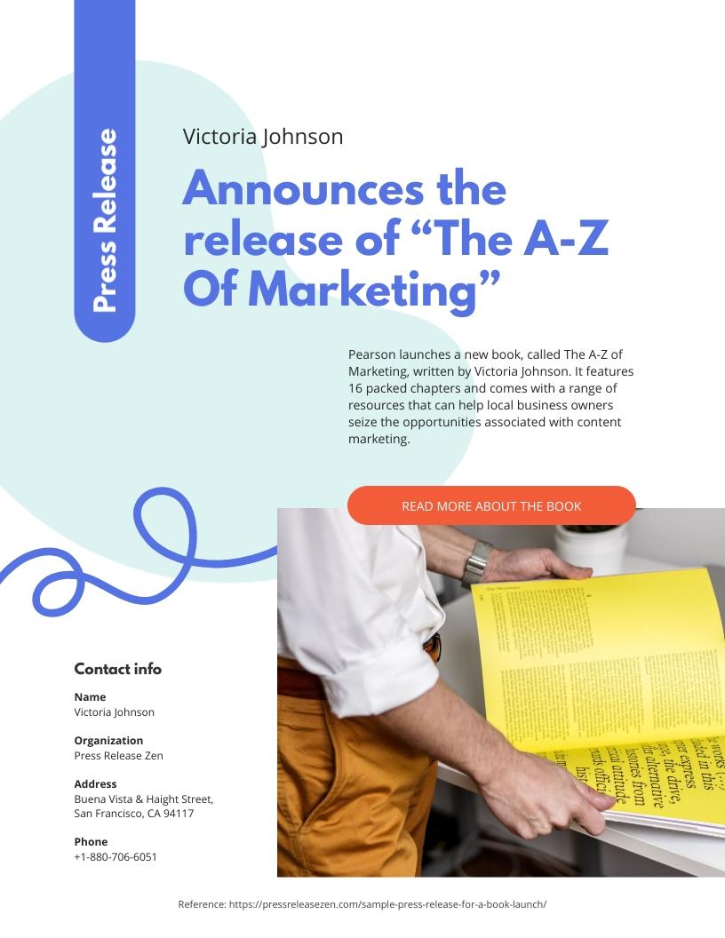 Creative Press Release Template