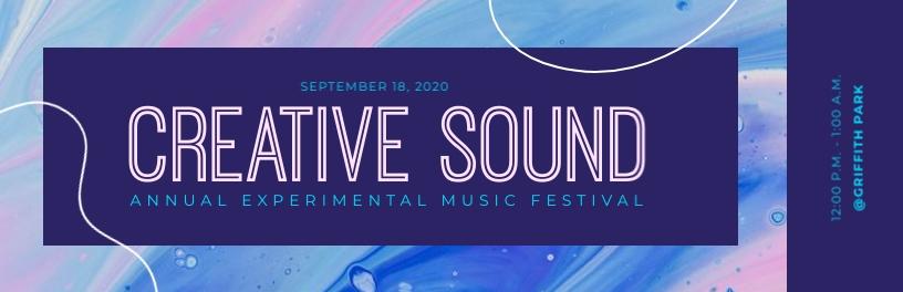 Creative Sound Ticket Template
