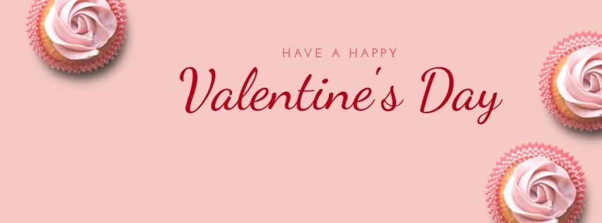 Cupcake Valentines Facebook Cover  Template