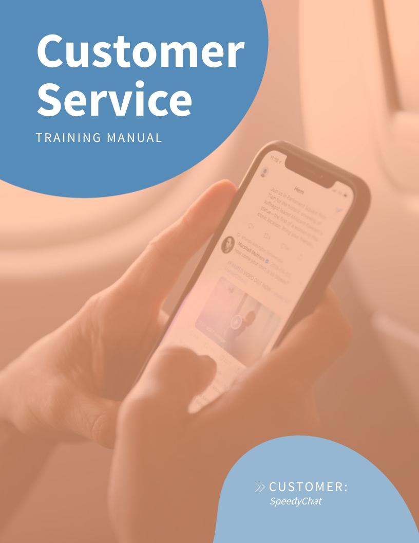 Customer Service - Training Manual Template