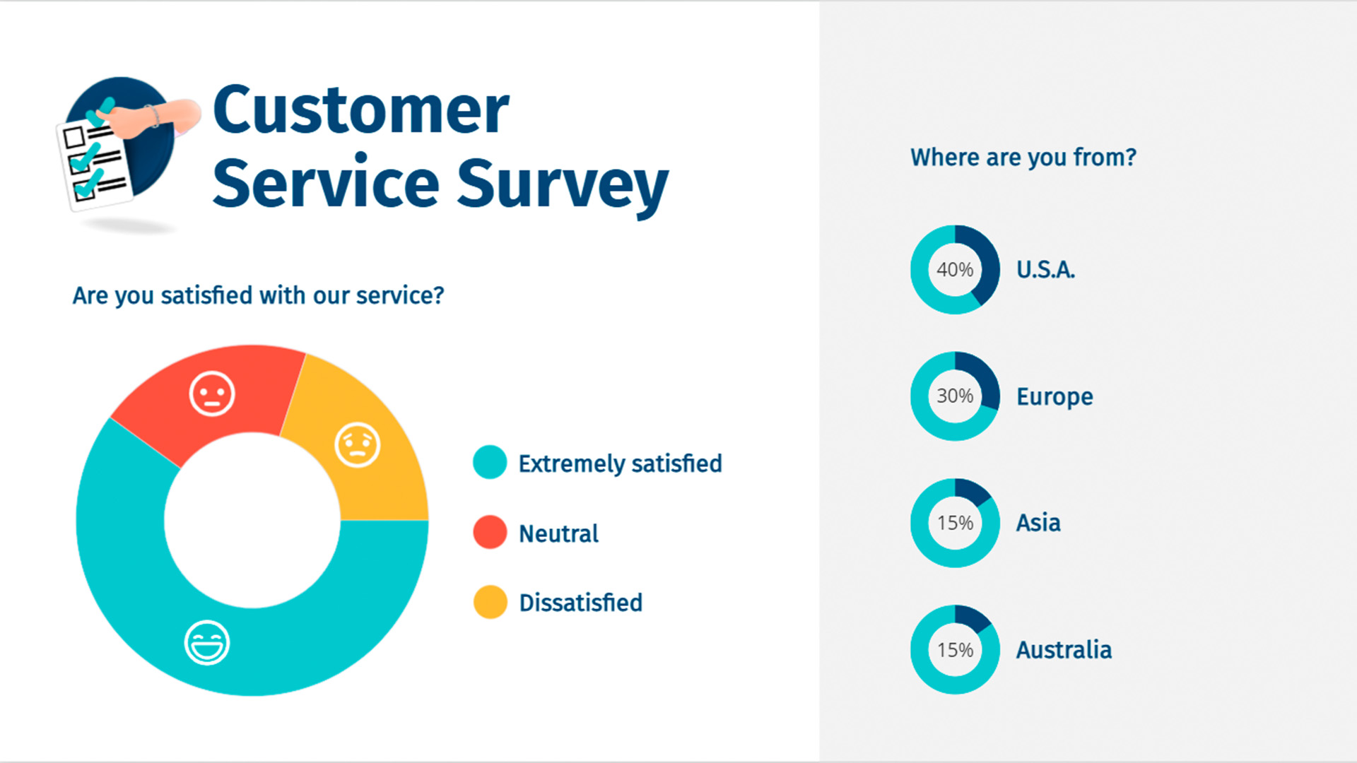 Customer Survey Pictograph Template