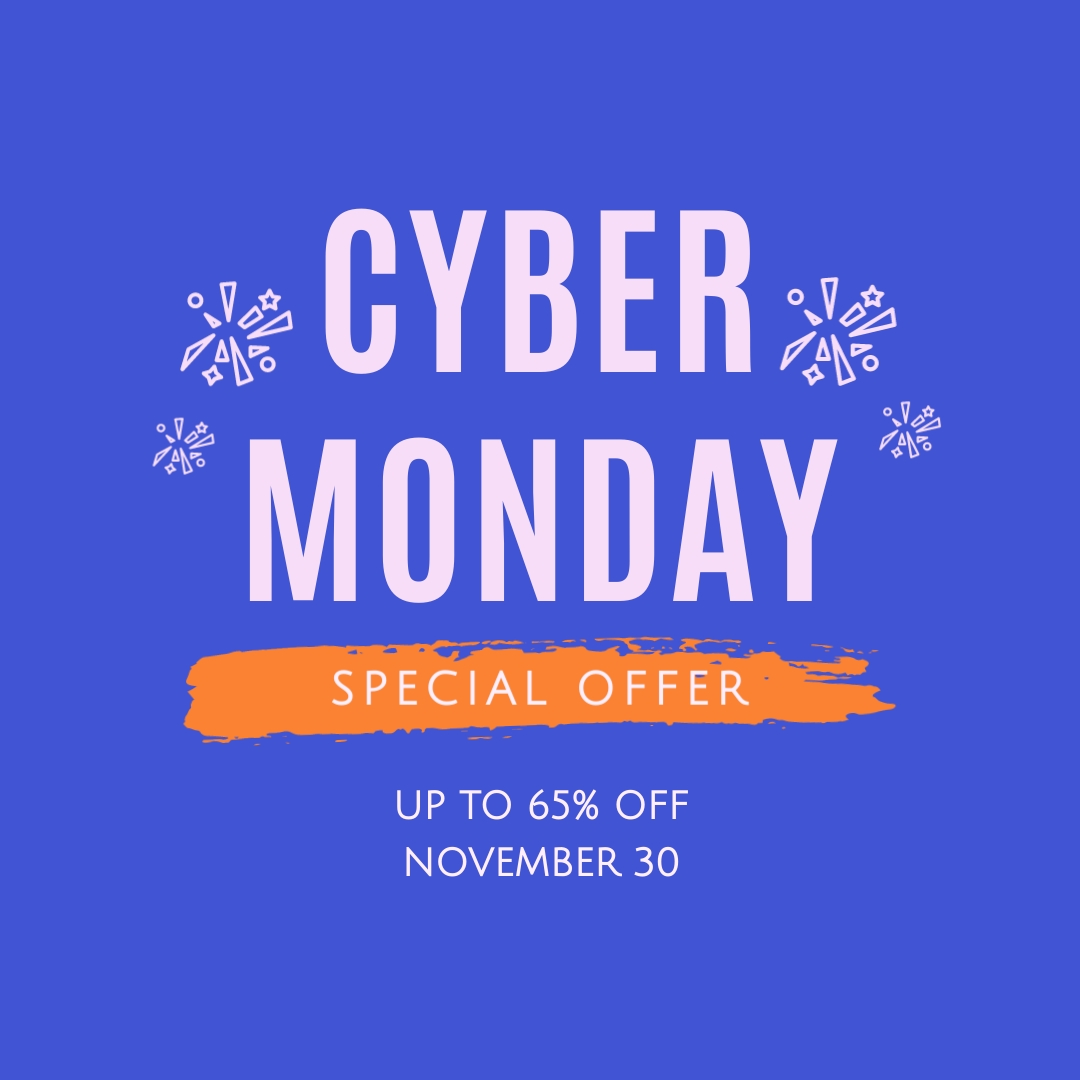 Cyber Monday Special Offer Blog Graphic Medium Template
