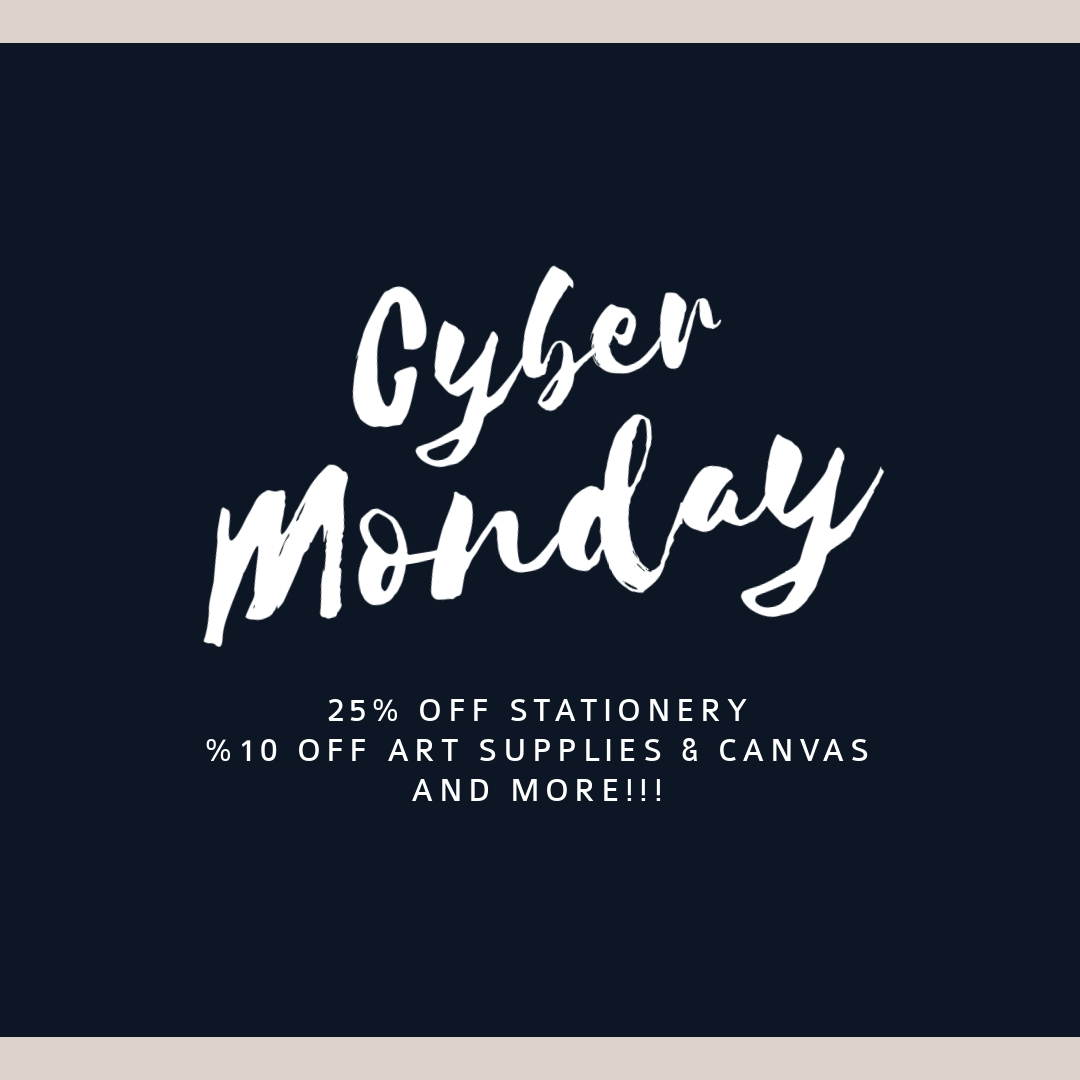 Cyber Monday Stationery Sale Instagram Post Template