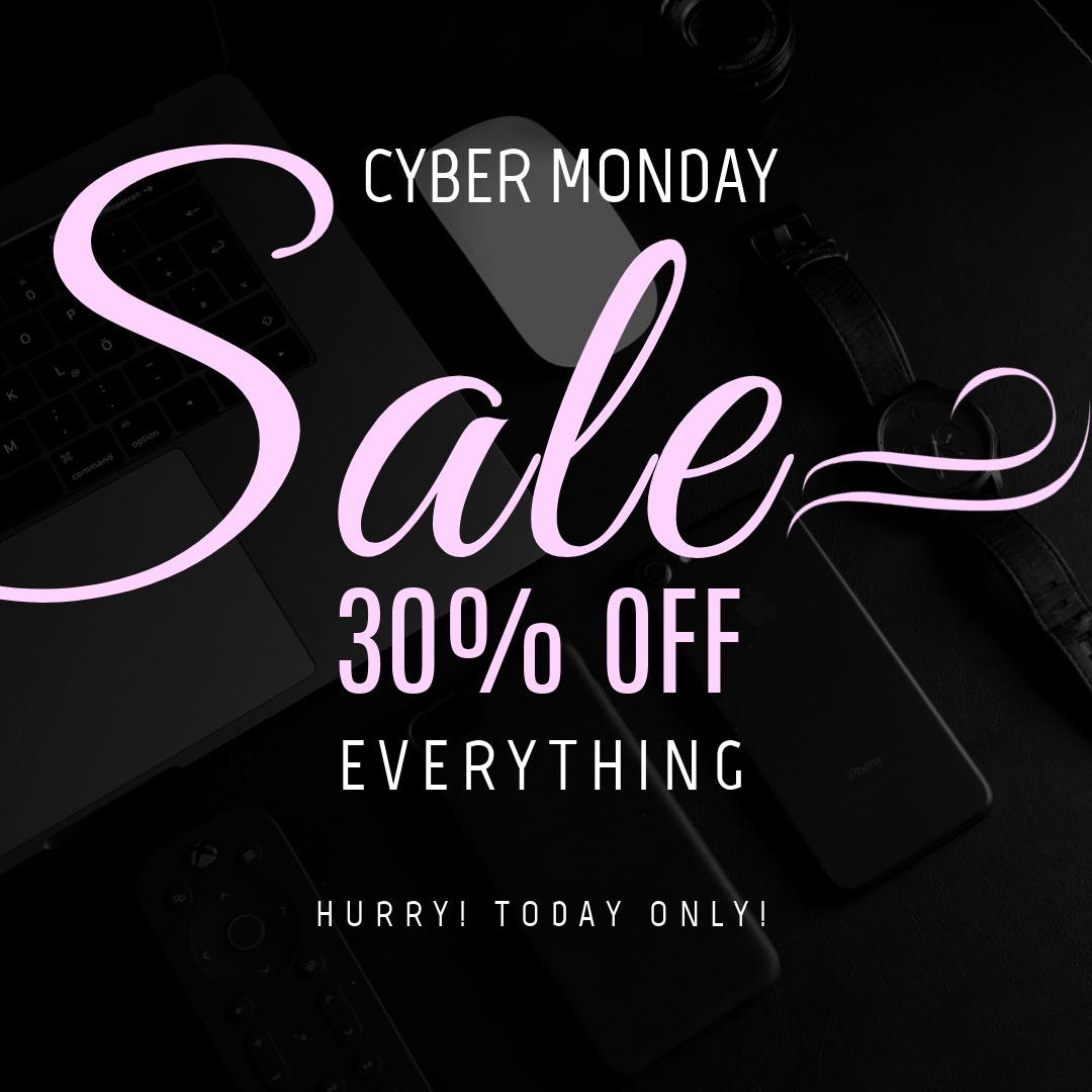 Cyber Monday Today Only Instagram Post Template
