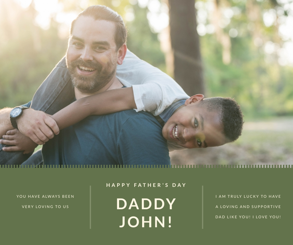 Daddy Pic Fathers Day Facebook Post Template