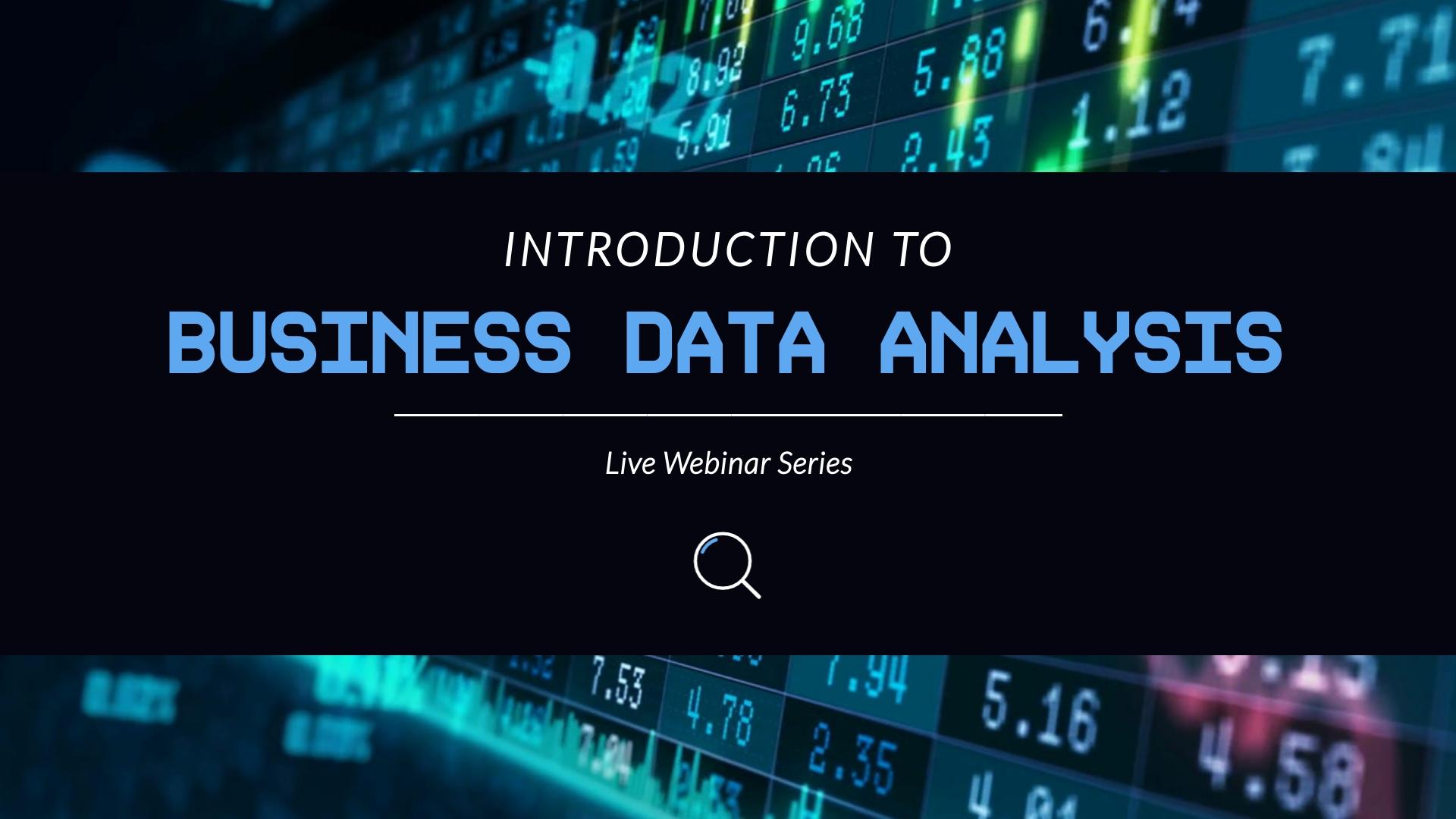 Data Analysis Intro - Video Template