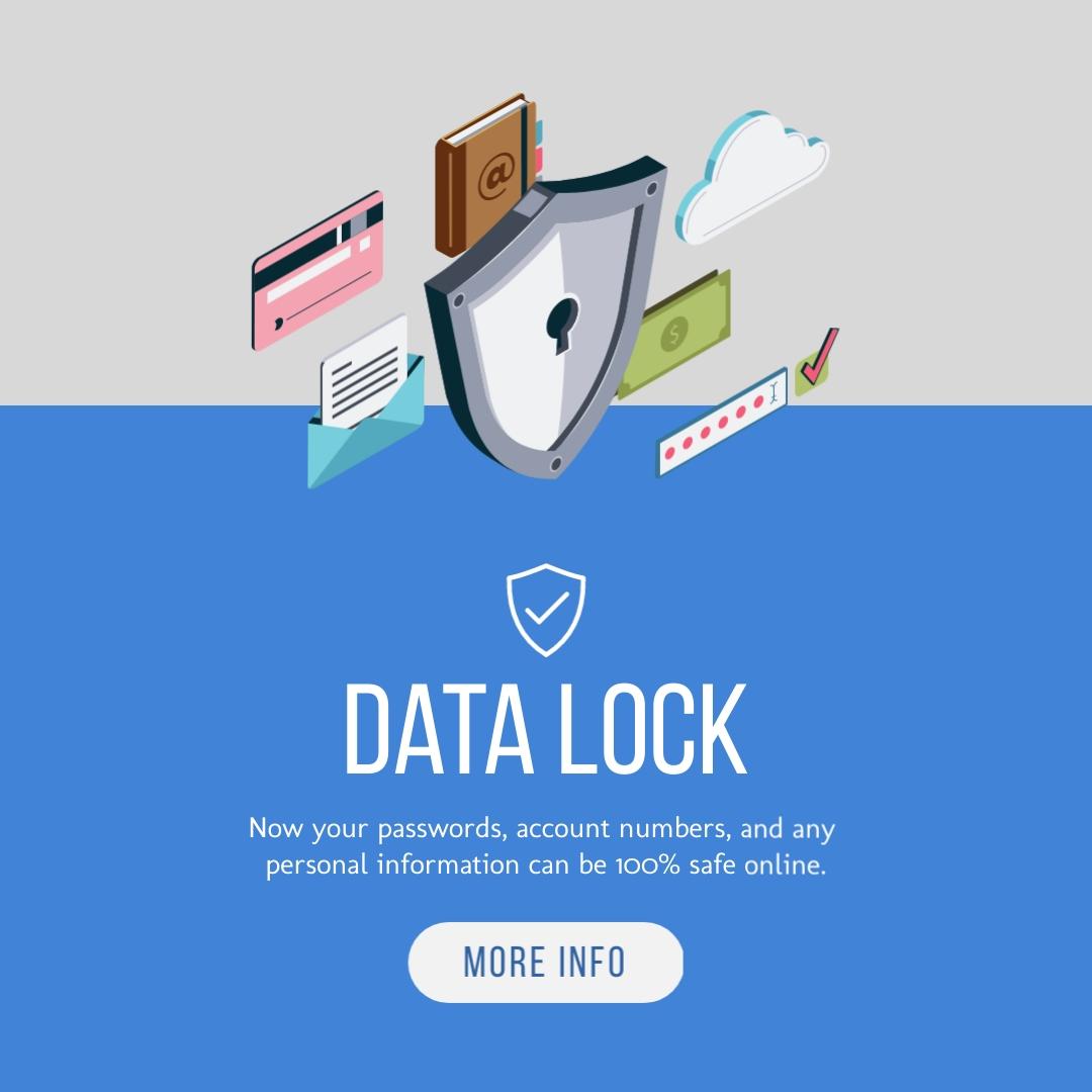 Data Lock Square Template