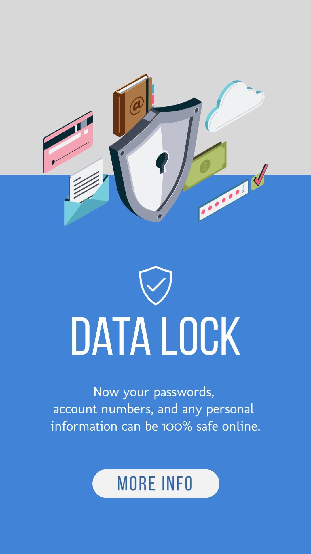 Data Lock Vertical Template