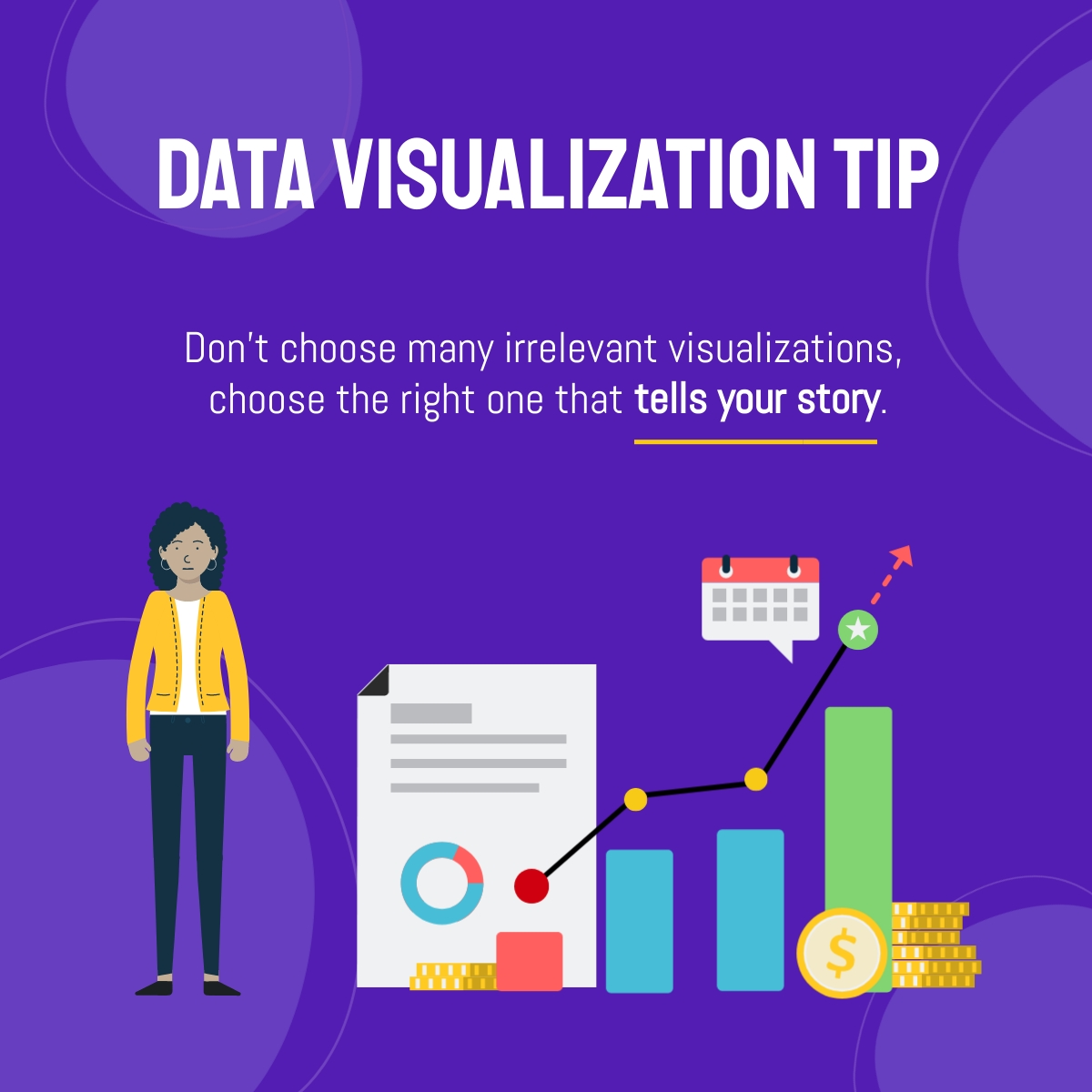 Data Visualization Tip - LinkedIn Post Template