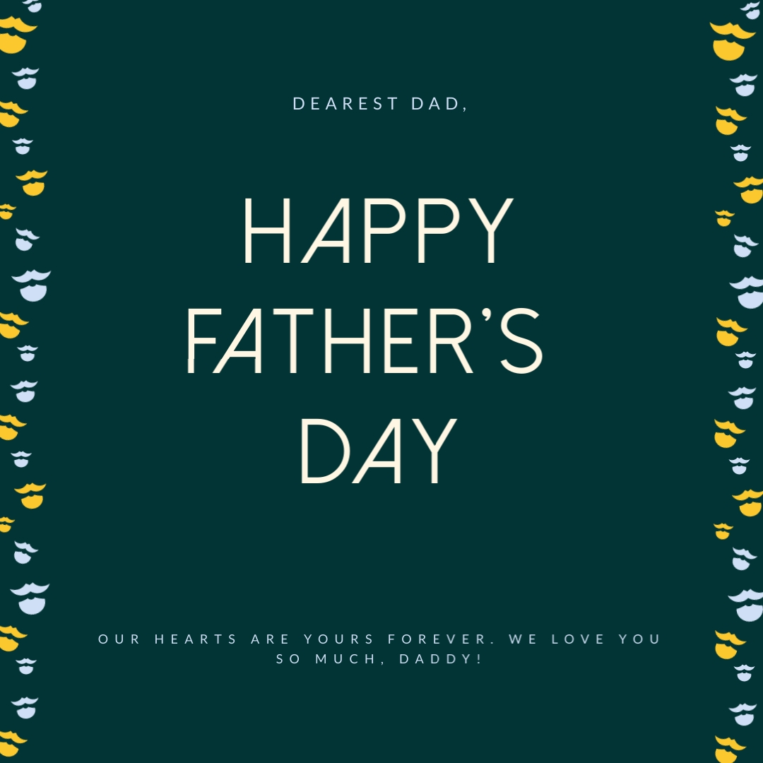 Dearest Dad Father's Day Instagram Post  Template
