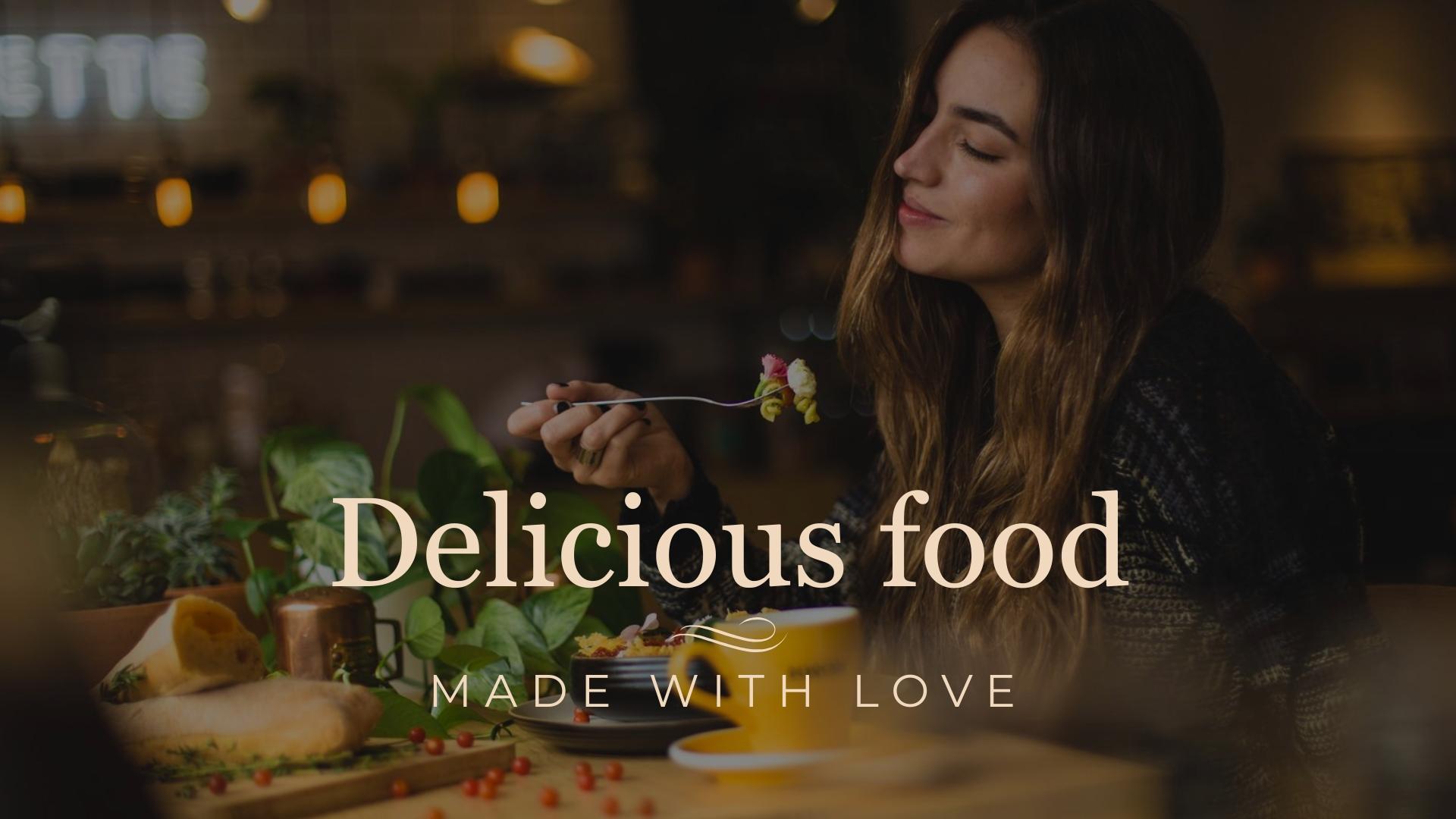 Delicious Restaurant Facebook Video Ad Template