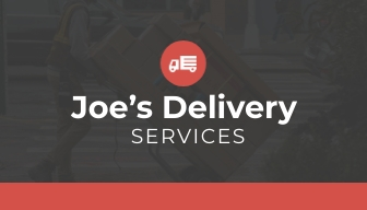Delivery Service Loyalty Card Template