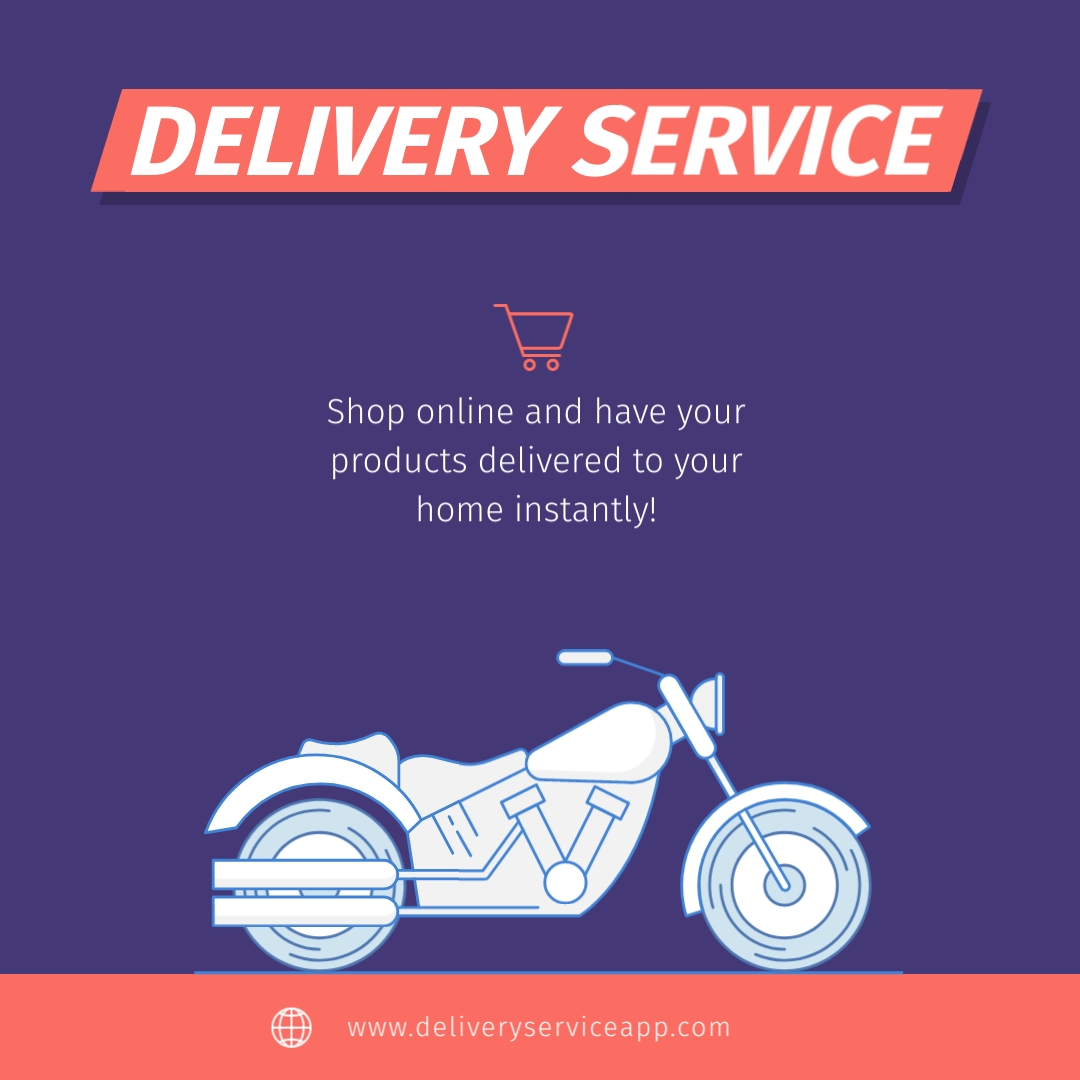 Delivery Service - Instagram Post Template