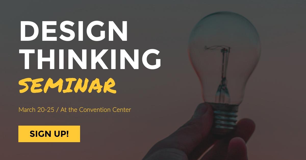 Design Thinking Seminar Facebook Ad  Template