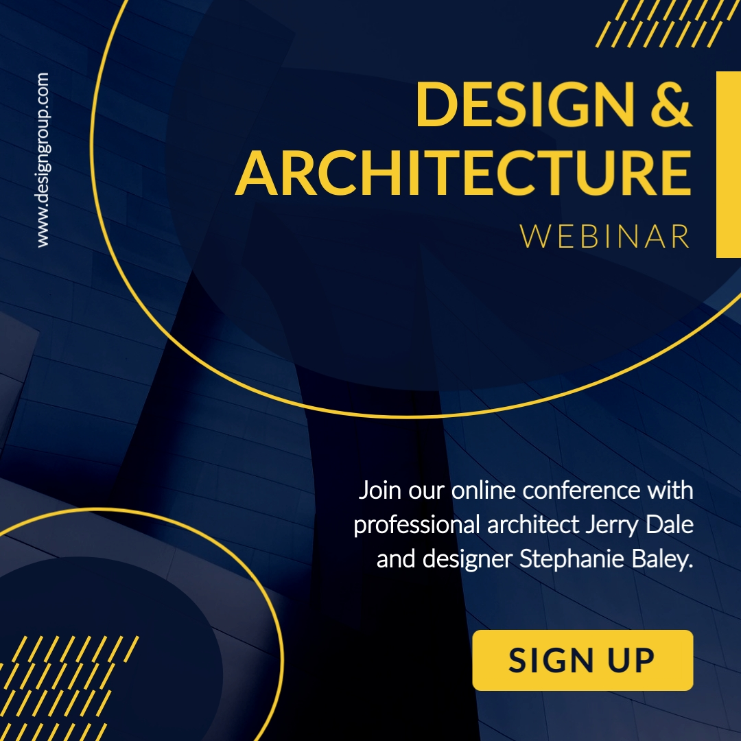 Design and Architecture Webinar Instagram Post Template