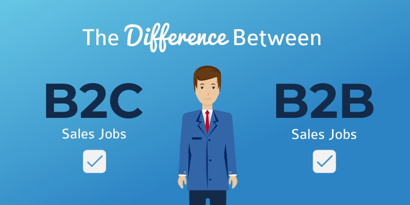 Difference between B2C vs B2B Blog Graphic Header Template