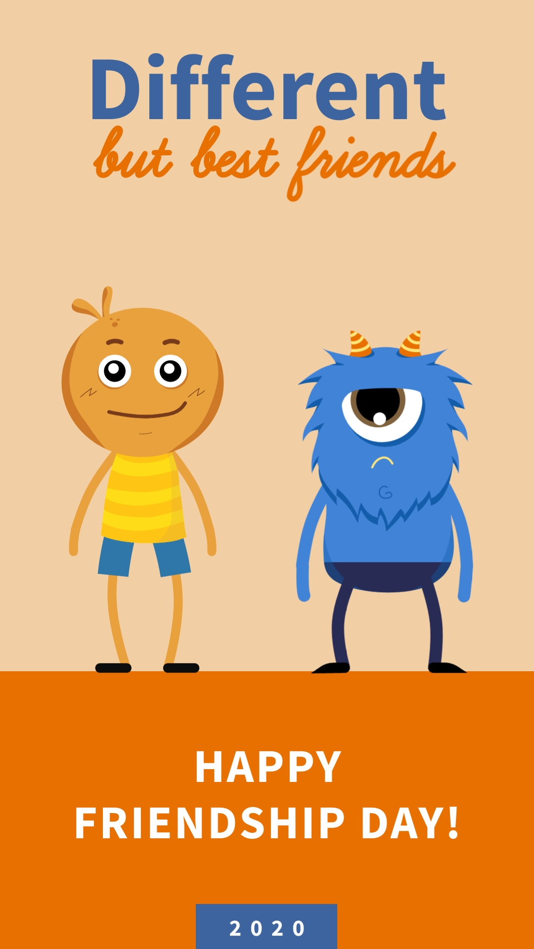 Different Besties Animated Vertical Template