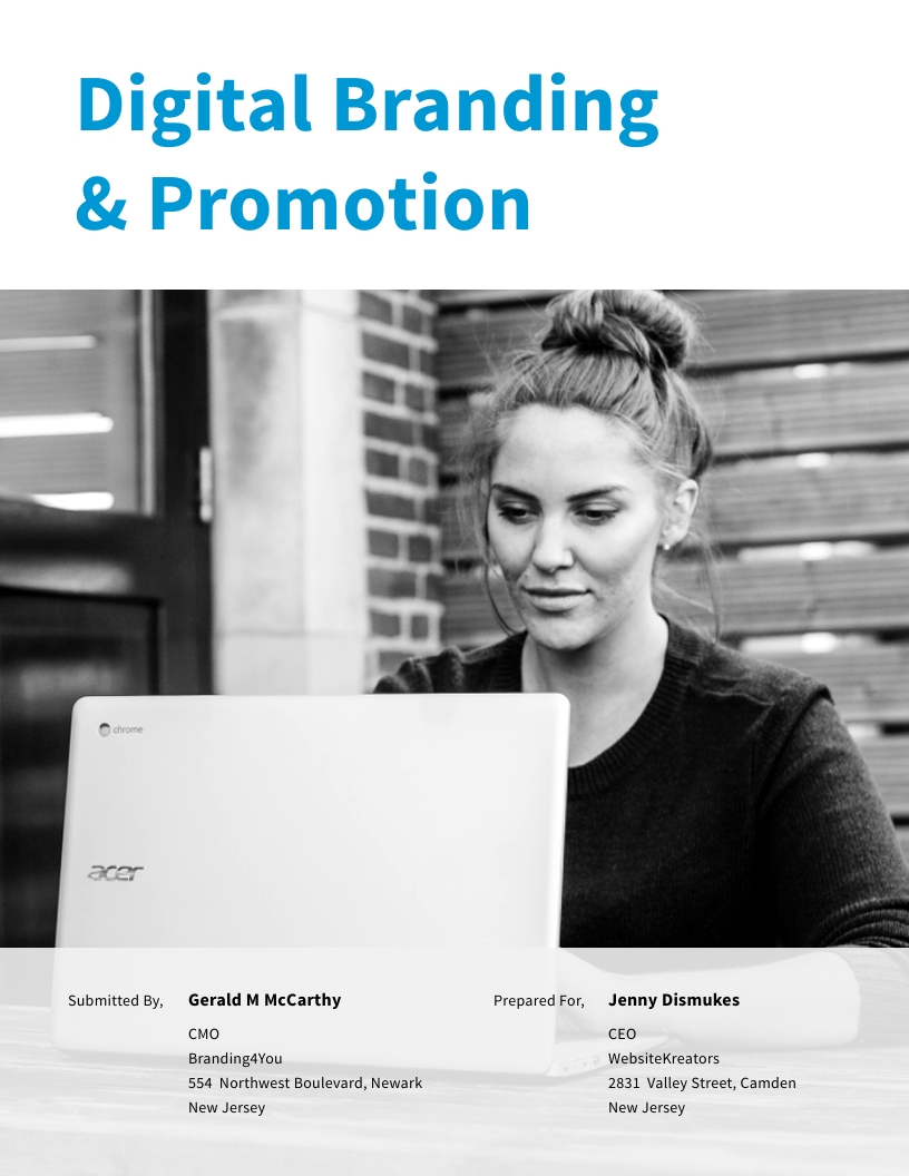Digital Branding and Promotion - Proposal Template