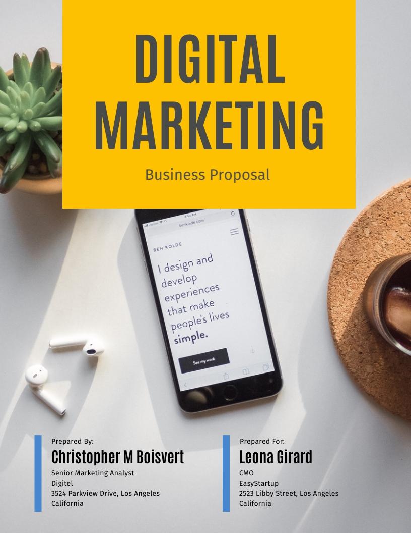Digital Marketing - Proposal Template