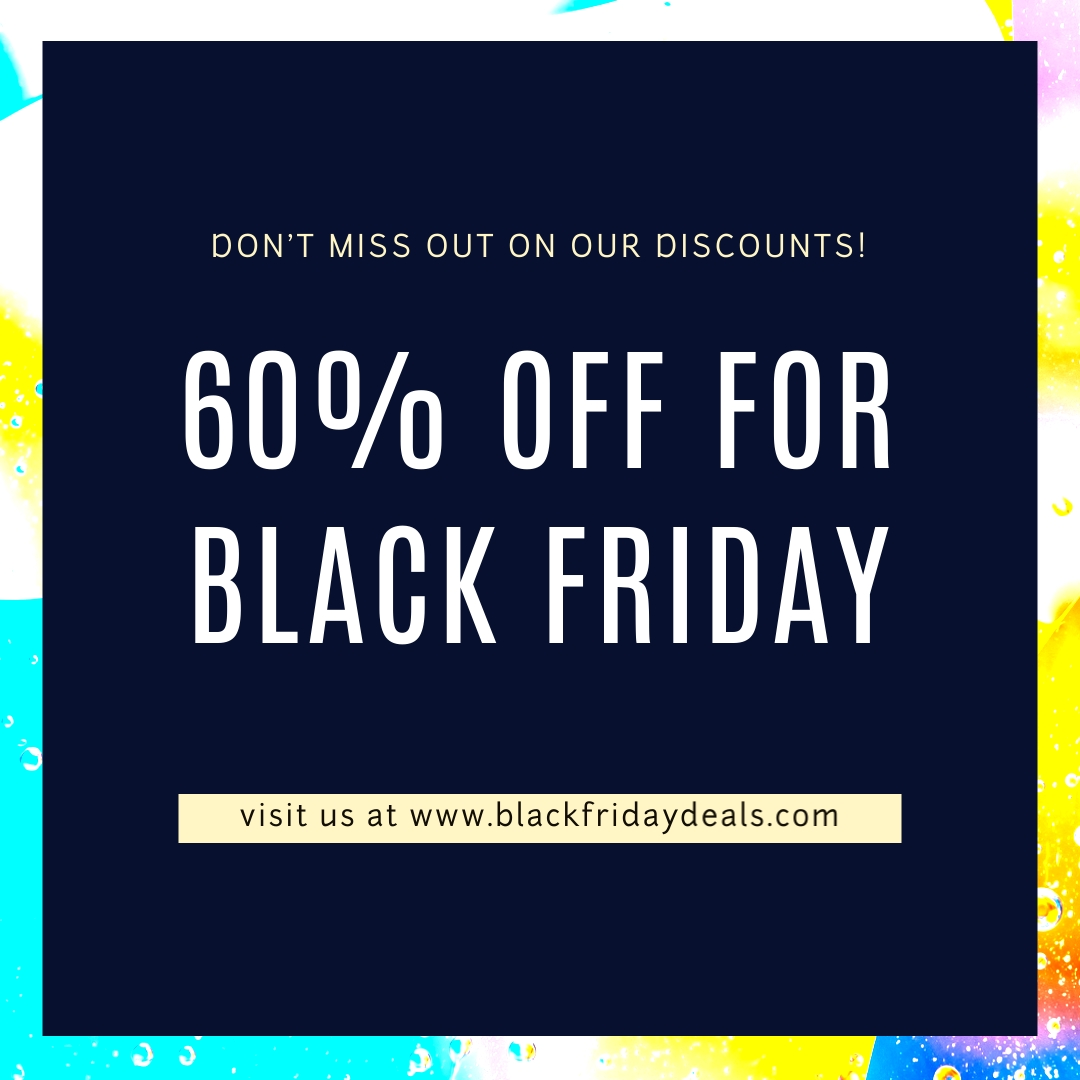 Discounts Offers Black Friday Blog Graphic Medium Template