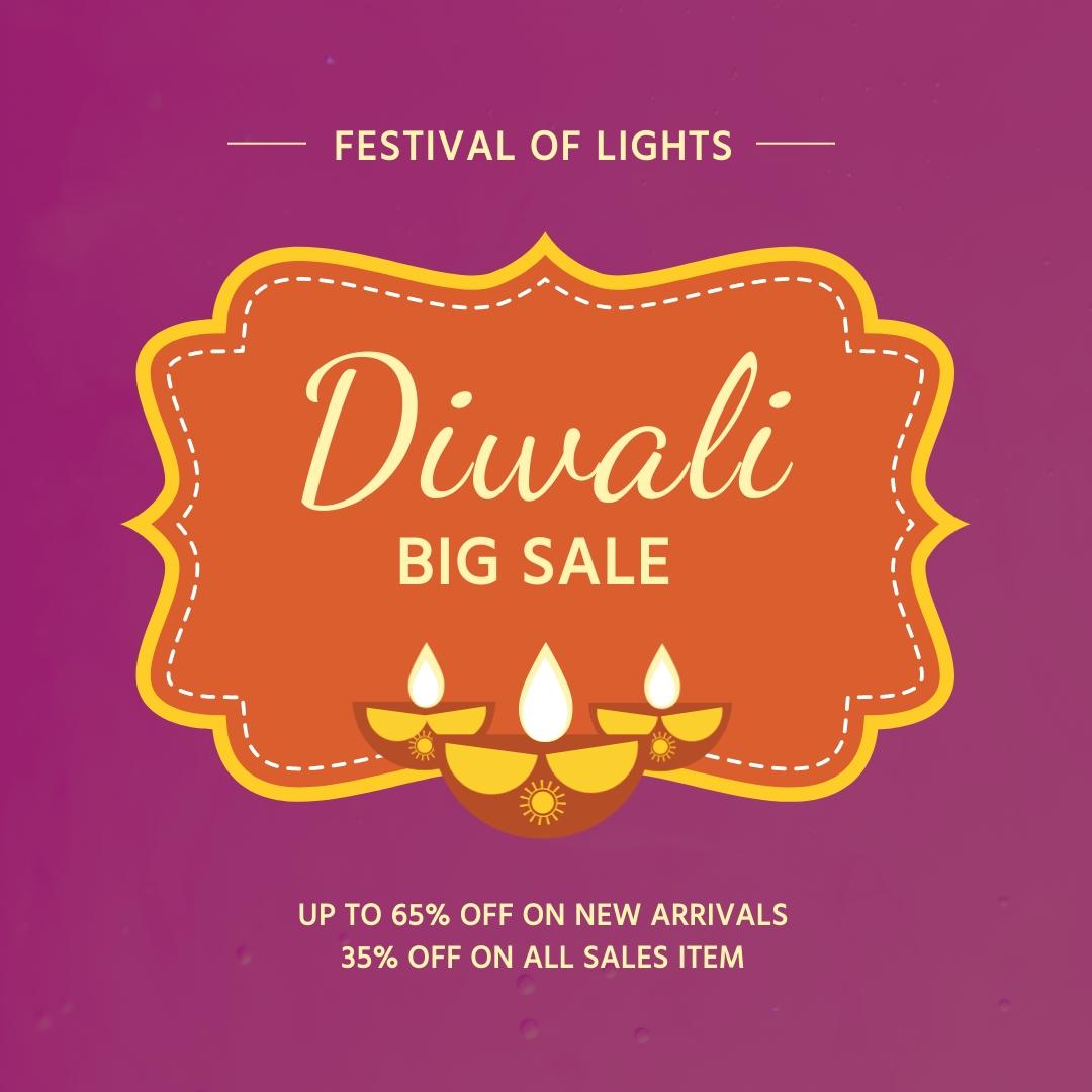 Diwali Big Sale Instagram Post Template