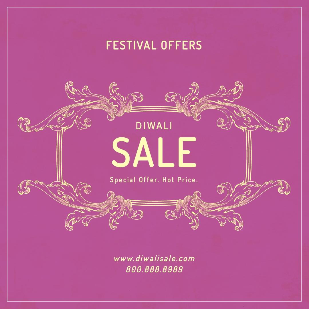 Diwali Festival Offer Blog Graphic Medium Template