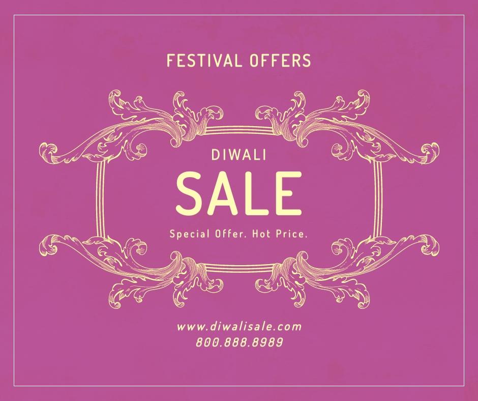 Diwali Festival Offer Facebook Post Template
