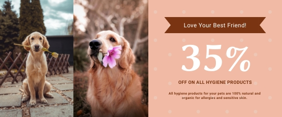 Dogs Hygiene Products Coupon Template