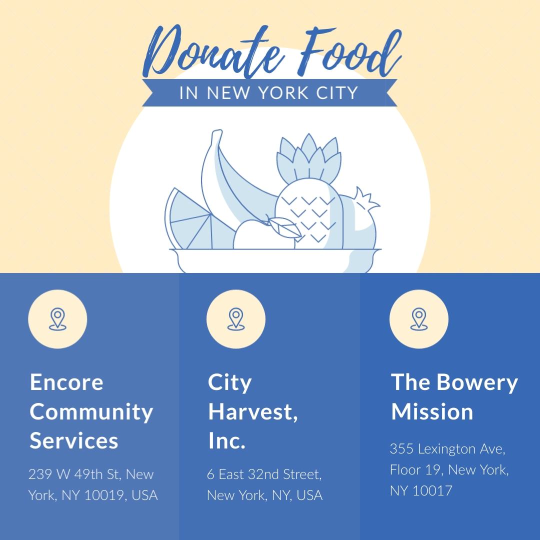 Donate Food COVID19 NYC Animated Square Template