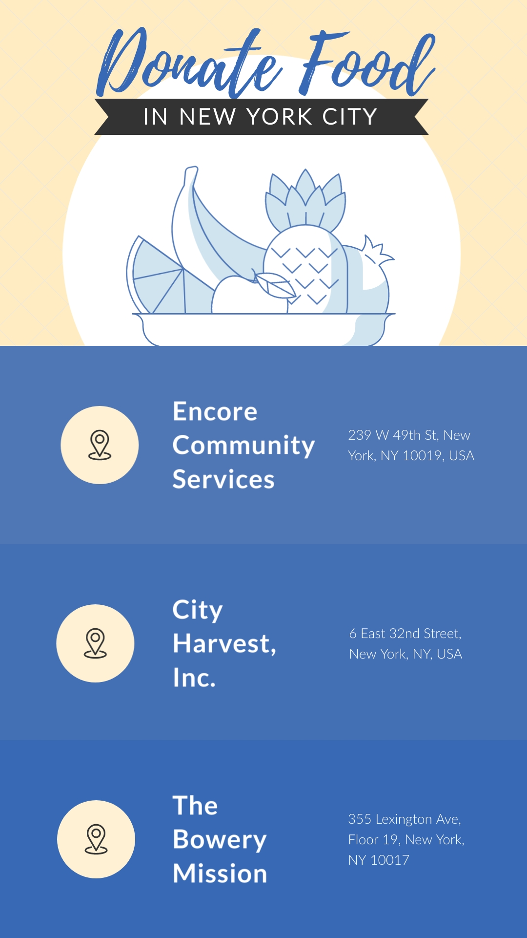 Donate Food COVID19 NYC Animated Vertical Template
