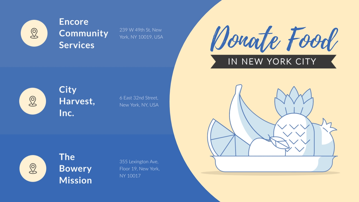 Donate Food COVID19 NYC Animated Wide Template