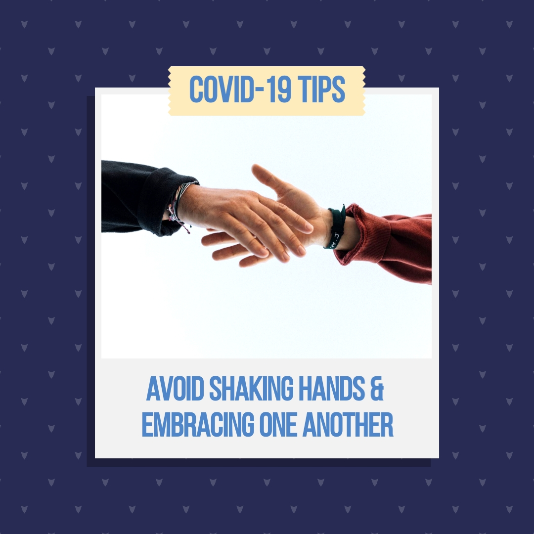 Dont Shake Hands COVID19 Animated Square Template