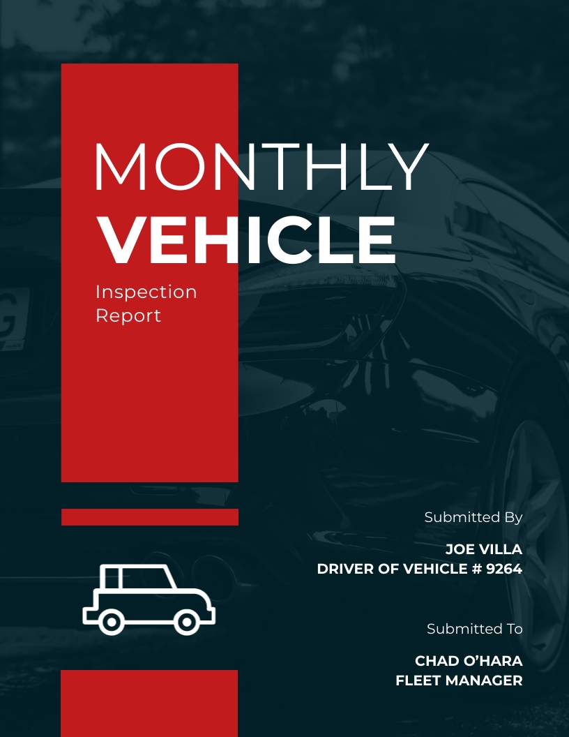 Driver Vehicle Inspection Report Template