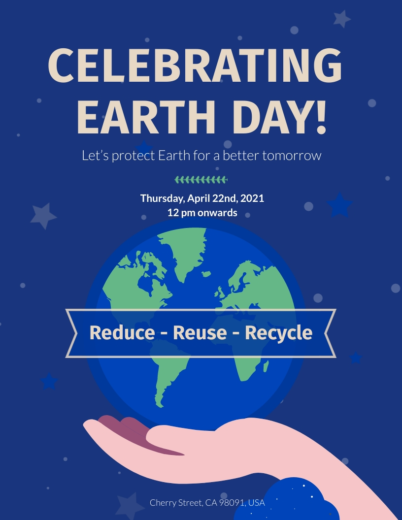 Earth Day Festival Flyer Template
