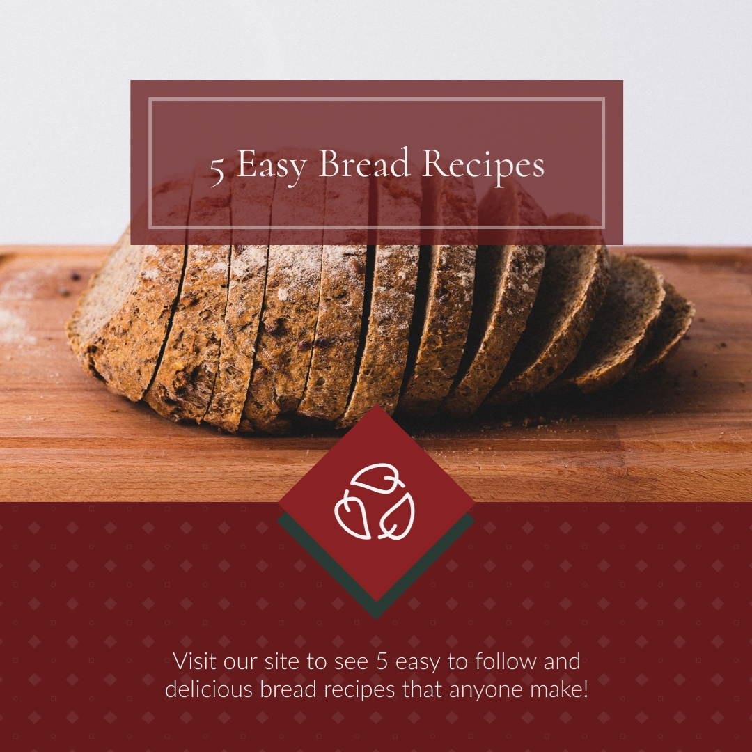 Easy Bread Recipes Animated Square Template