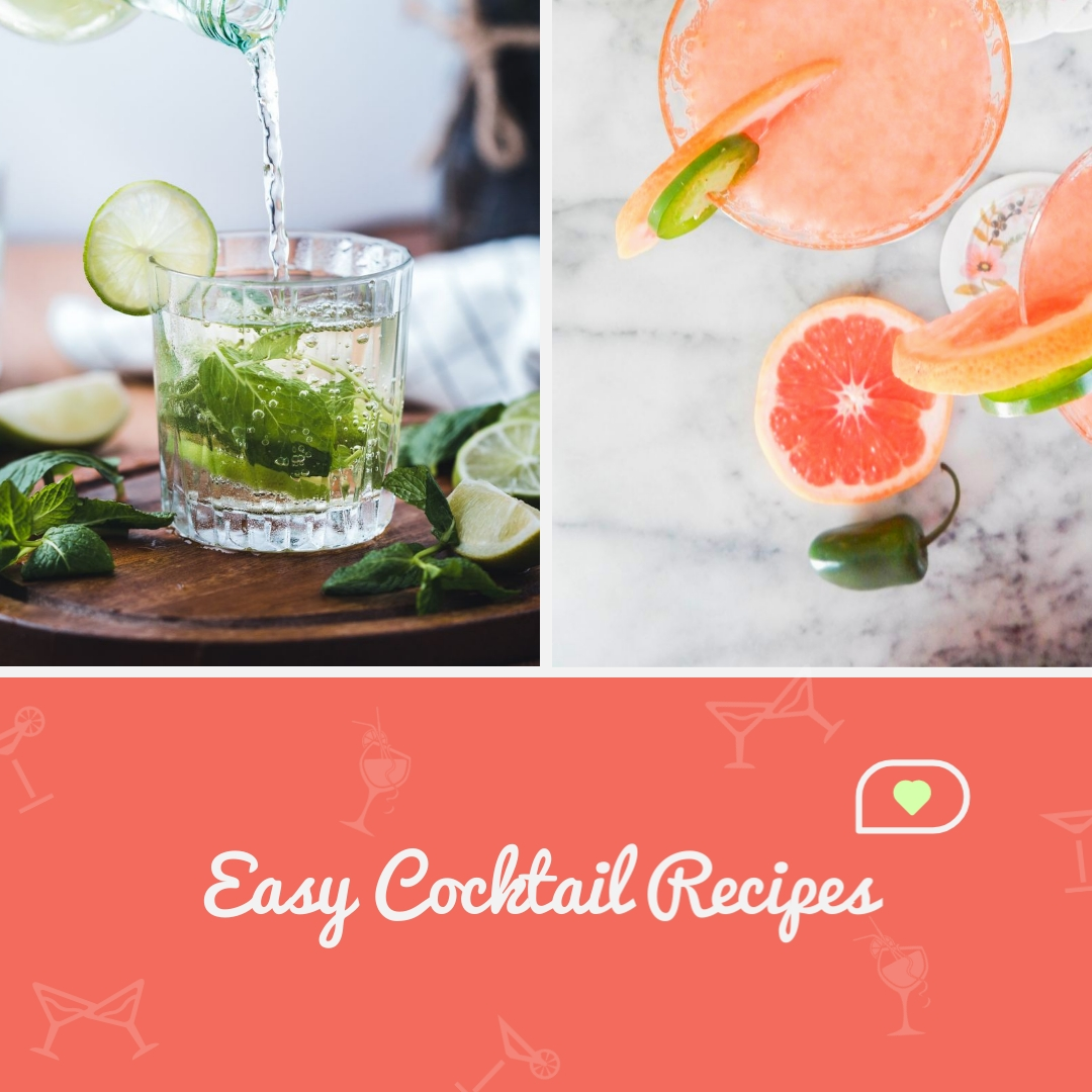 Easy Cocktail Recipes Animated Square Template