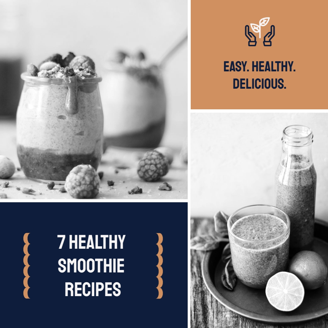 Easy Healthy Delicious Smoothies Animated Square Template