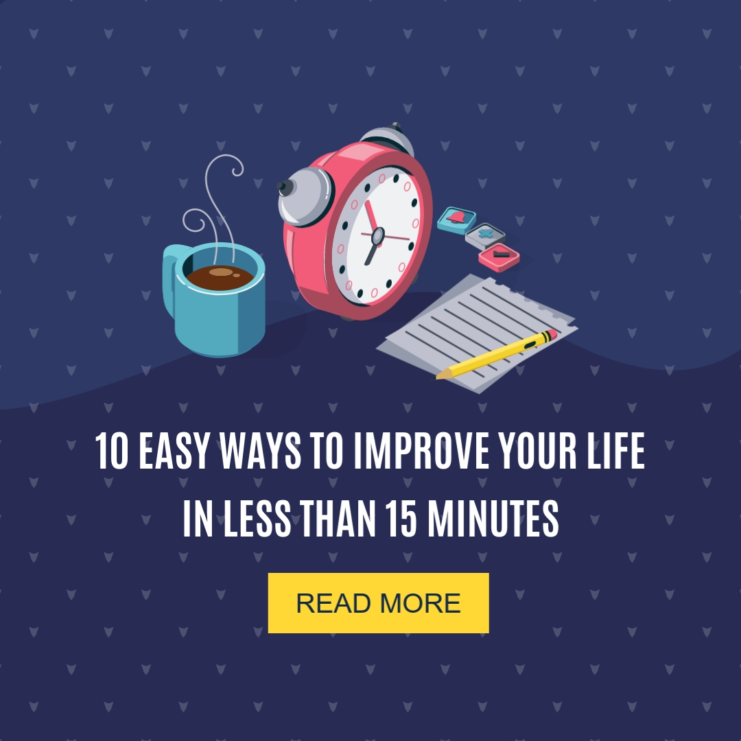 Easy Ways to Improve Your Life Square Template