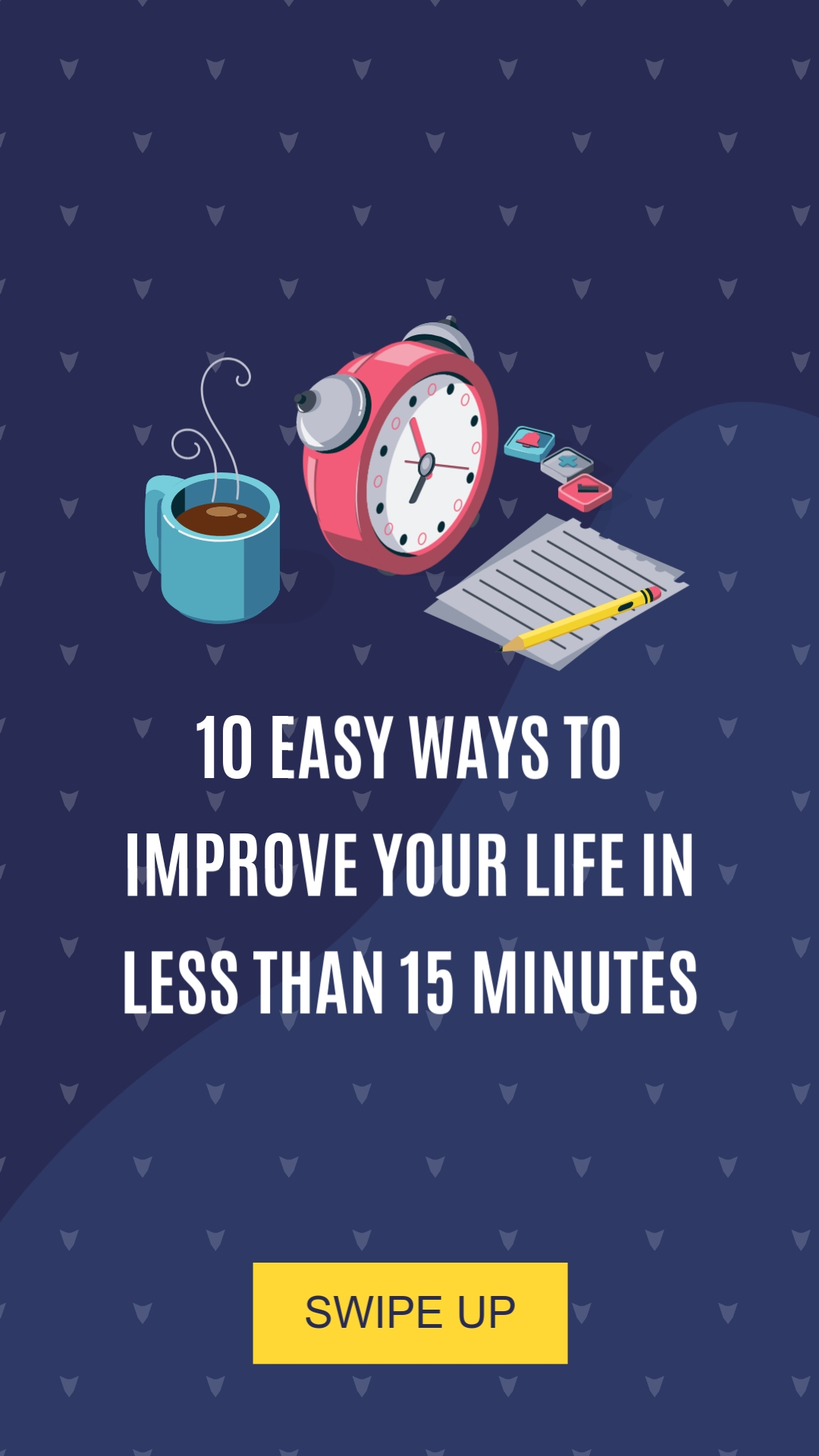 Easy Ways to Improve Your Life Vertical Template